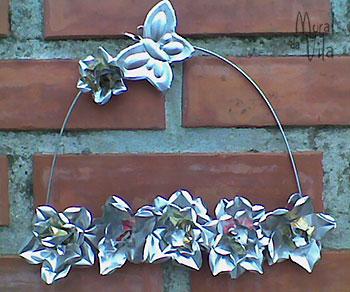 Flores de latinhas recicladas