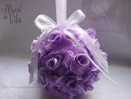 Flores artesanais de tecido