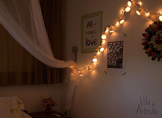 Decore as paredes com as lanternas