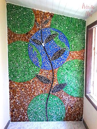 Painel de parede em mosaico