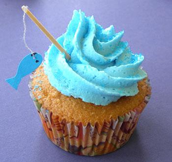 Pescadores ganham cupcakes com peixinhos