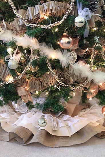 Festões artesanais para árvore de natal