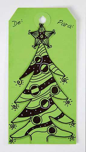 Cartão árvore de natal pronto