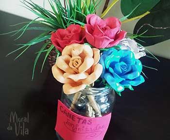 Flores de EVA para decorar canetas