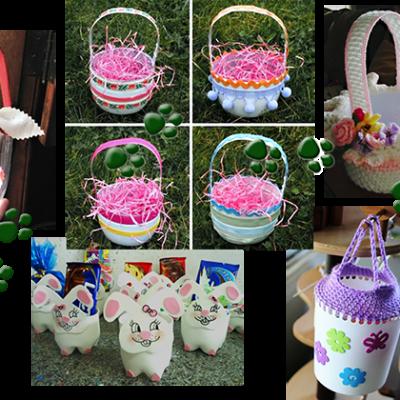 Desafio Artístico de Páscoa: cestas