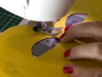 Reforce as bordas com costura