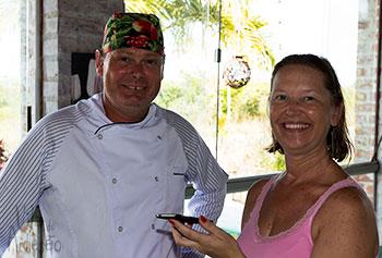 Entrevistando os chefs dos restaurantes locais