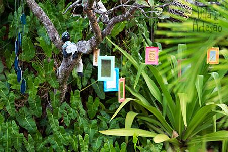 Jardins mágicos da Pousada dos Mundos