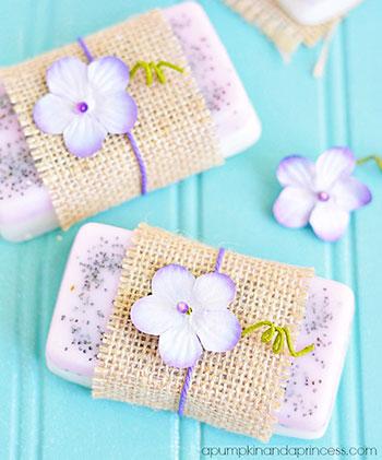 Sabonetes de lavanda e limão