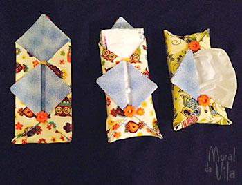 Porta lenços de papel feito em tecido