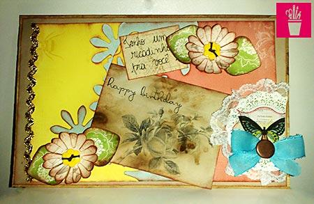 Capa de álbum com scrap
