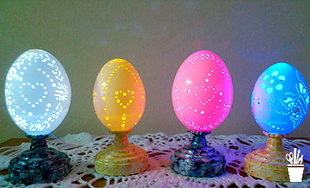Arte sobre cascas de ovos