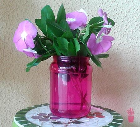 Reciclagem com pintura vitral