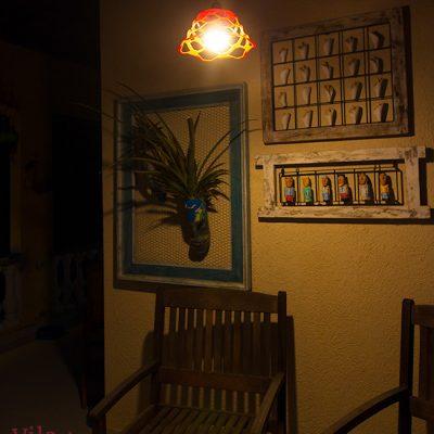 Luminária contemporânea feita de fruteira
