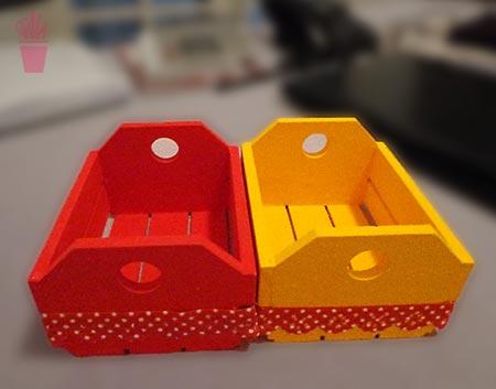 Mini caixotes pra organizar escritórios