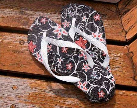 Faça chinelos decorados e customizados