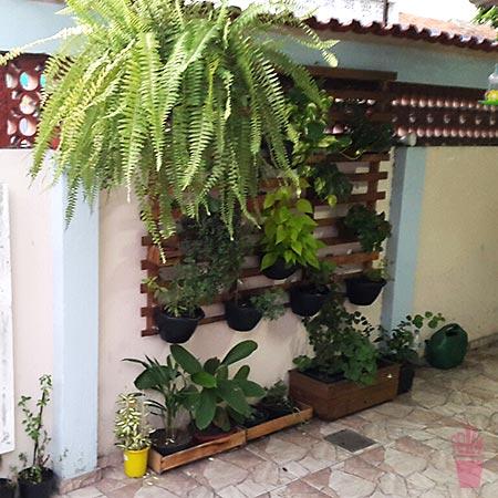 Estrado de cama dá espaço para novo jardim vertical