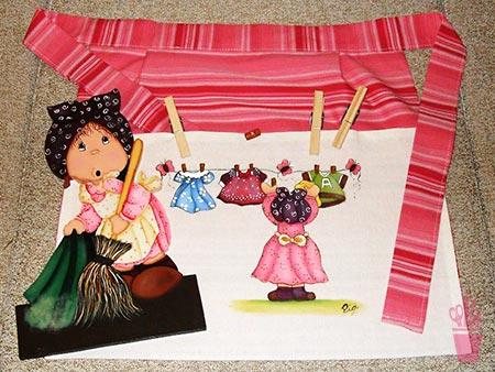 Pintura em tecido de uso diário