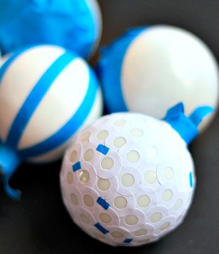 Faça estencil nas bolas