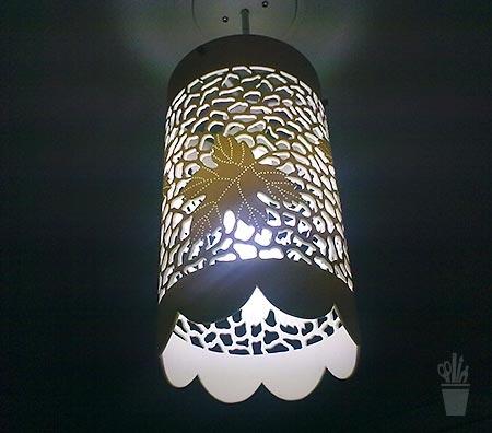 Luminária pendente de PVC