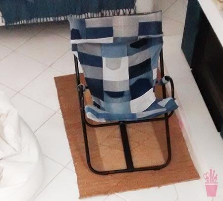 Cadeira com sobras e reuso de jeans