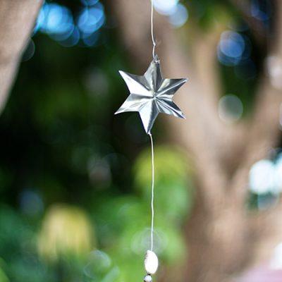 Enfeite para festas estrela de latinha pronto