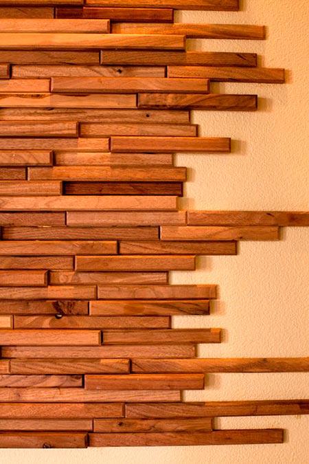 Ripas estreitas de madeira