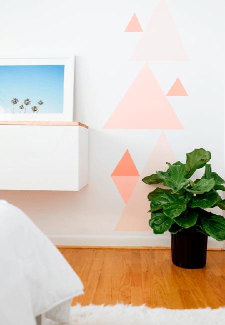 Geométricos decorando as paredes