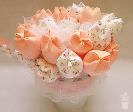 Flores de tecido para presentear