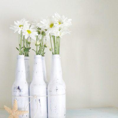 Como usar garrafas de cerveja na decoração