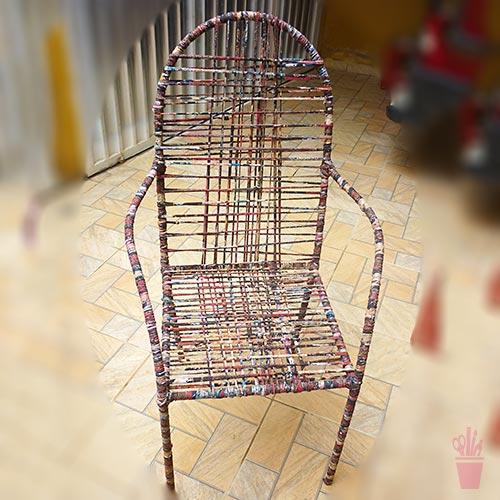 Cadeira de varanda com fios de malha