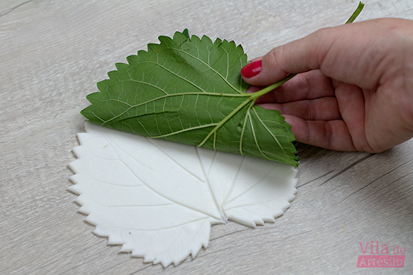 Remova a folha