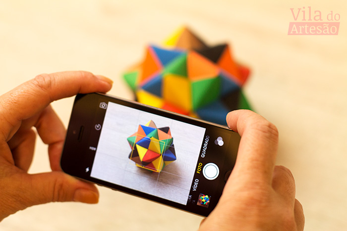 Fotografando artesanato com o celular