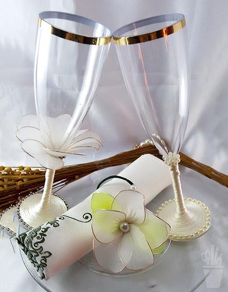 Taças decoradas para brindes especiais