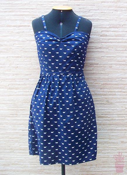 Vestido de verão estilo vintage