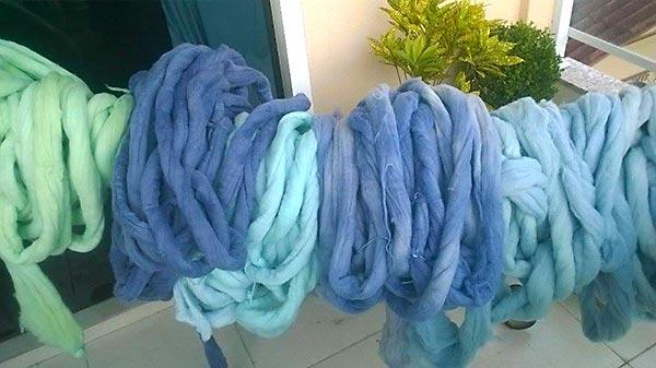 Meadas de lã pura