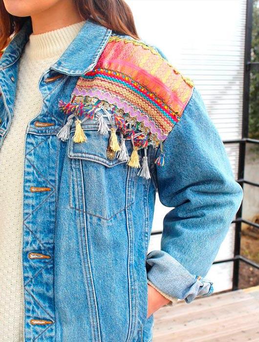 Jaquetas customizadas com apliques