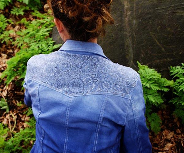 Jaquetas Jeans desenhadas