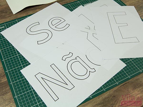 Letras impressas