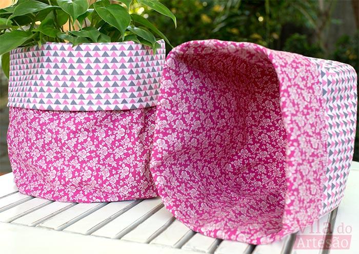 Tecidos composê - Faça um par e use invertido ou combinando