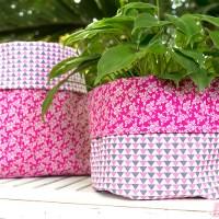 Como fazer cachepôs em tecidos composê