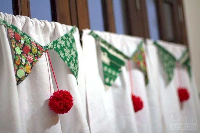 Bandeirolas de natal para as janelas