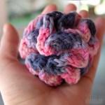 Esponja Bola Puff em crochê, tamanho ideal
