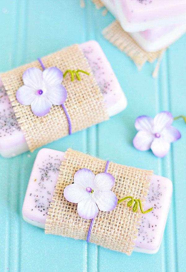 Sabonetes de lavanda e limão super delicados
