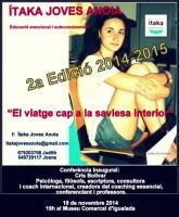 Itaka Joves Anoia Poster conferencia Cris Bolivar