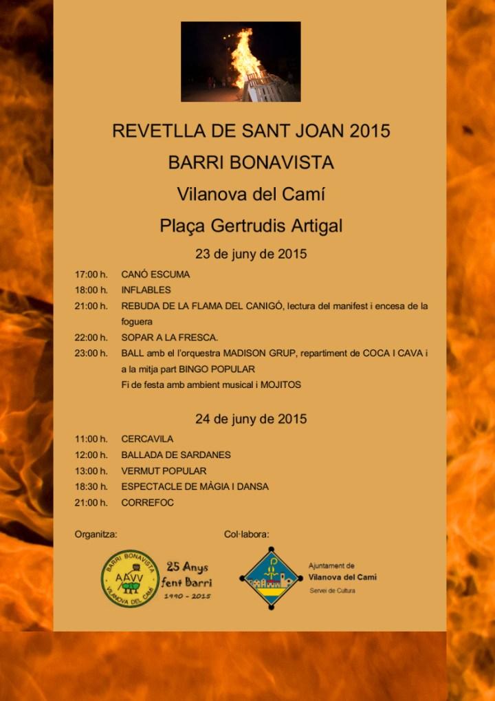Revetlla Sant Joan 2015 cartell