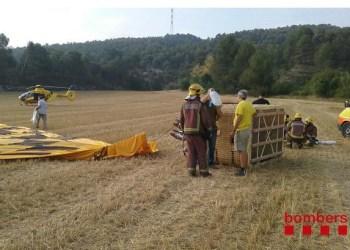 Globus accident 12 juliol 2015 Foto Bombers Generalitat