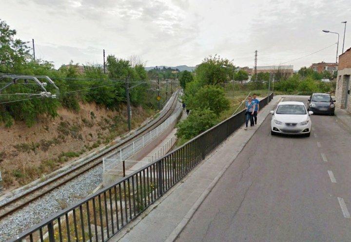 Pas vianants via del tren Foto Ajuntament Igualada