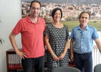 Signatura conveni amb Vilanova Comerc jun17