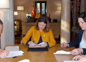 Foto Diputació de Barcelona conveni Ajuntament desembre 2017